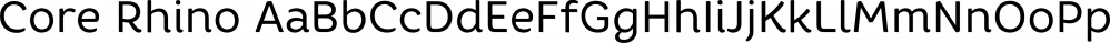 Core Rhino font family by S-Core