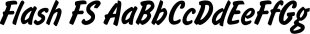 Flash FS font family mini