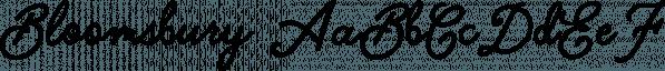 Bloomsbury font family by Ian Barnard