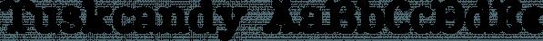 Tuskcandy font family by Ingrimayne Type