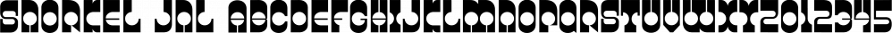 Snorkel JNL font family by Jeff Levine Fonts
