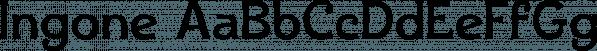 Ingone font family by Ingrimayne Type