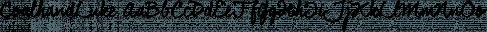 CoalhandLuke font family by JOEBOB Graphics