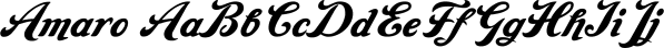 Amaro font family by Wiescher-Design