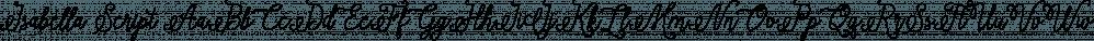 Isabella Script font family by Seniors Studio