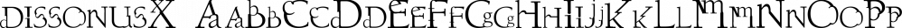 dissonusX font family by Dawnland