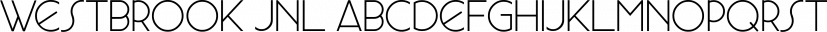 Westbrook JNL font family by Jeff Levine Fonts