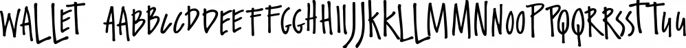 Wallet font family by Fontforecast