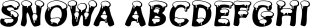 Snowa font family mini