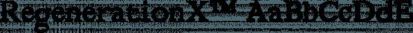 RegenerationX™ font family by MINDCANDY