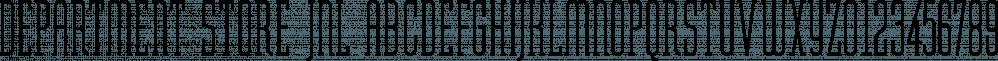 Department Store JNL font family by Jeff Levine Fonts