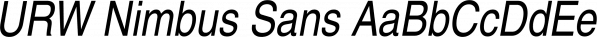 URW Nimbus Sans font family by URW Type Foundry