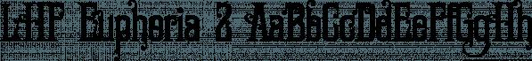 LHF Euphoria 2 font family by Letterhead Fonts