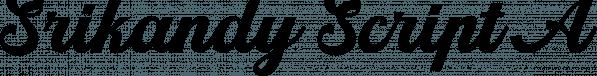 Srikandy Script font family by Picatype Studio