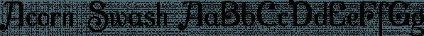 Acorn Swash font family by Ingrimayne Type