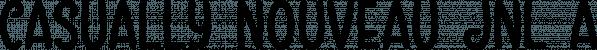 Casually Nouveau JNL font family by Jeff Levine Fonts