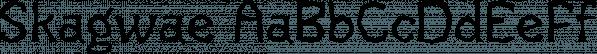 Skagwae font family by Ingrimayne Type