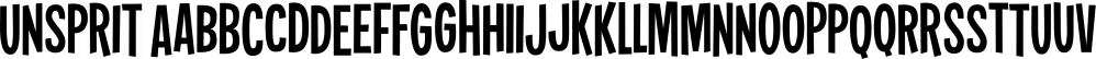 Unsprit font family by Pizzadude.dk