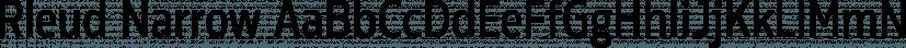 Rleud Narrow font family by Stawix