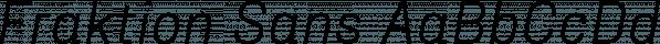 Fraktion Sans font family by Juri Zaech