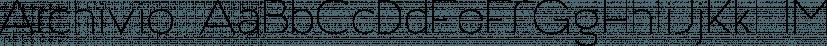 Archivio font family by Resistenza.es
