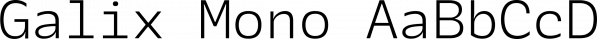 Galix Mono font family by Schizotype Fonts