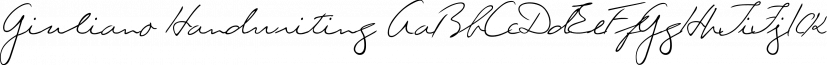Giuliano Handwriting font family by SoftMaker