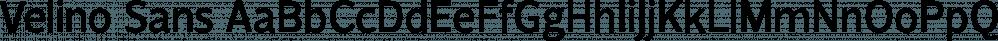 Velino Sans font family by DSType