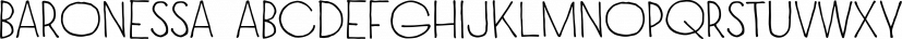 Baronessa font family by Juraj Chrastina