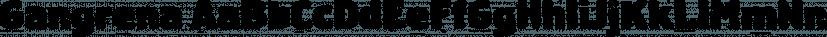 Gangrena font family by MACHALSKI