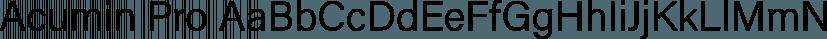 Acumin Pro font family by Adobe