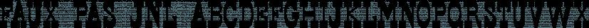 Faux Pas JNL font family by Jeff Levine Fonts
