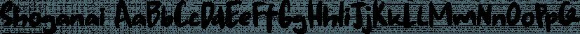 Shoganai font family by Hanoded