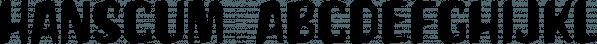 Hanscum font family by Albatross