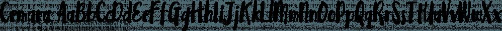 Cemara font family by Locomotype
