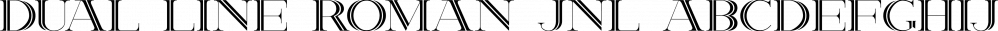 Dual Line Roman JNL font family by Jeff Levine Fonts