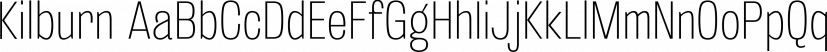 Kilburn font family by Talbot Type