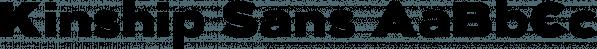 Kinship Sans font family by wearecolt