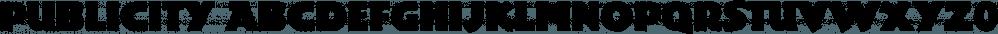 Publicity font family by FontSite Inc.