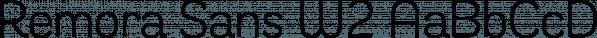 Remora Sans W2 font family by G-Type