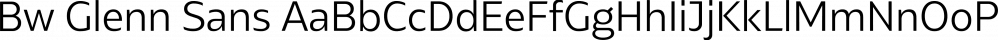 Bw Glenn Sans font family by Branding With Type