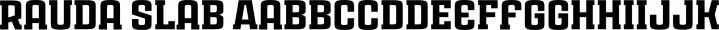 Ruda Slab font family by Graviton