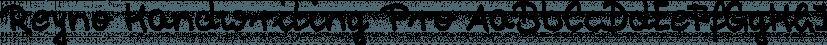 Reyno Handwriting Pro font family by SoftMaker
