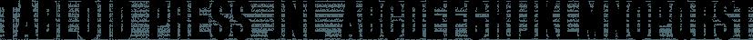 Tabloid Press JNL font family by Jeff Levine Fonts