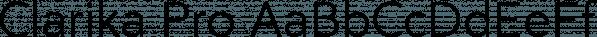 Clarika Pro font family by Wild Edge