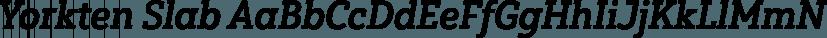 Yorkten Slab font family by Insigne Design