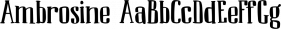 Ambrosine font family