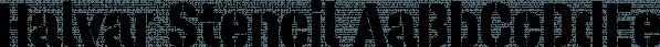 Halvar Stencil font family by TypeMates