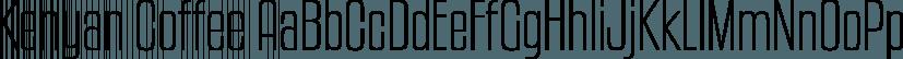 Kenyan Coffee font family by Typodermic Fonts Inc.