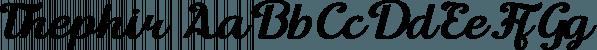Thephir font family by NREY